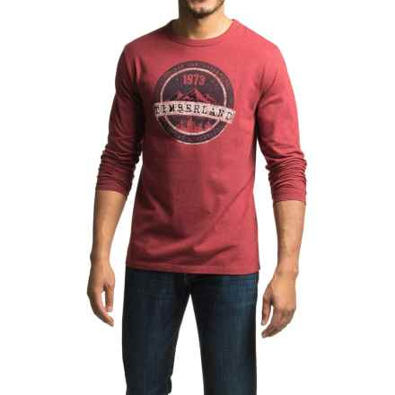 Timberland Mountain Portal T-Shirt - Long Sleeve (For Men) in Rhubarb - Closeouts