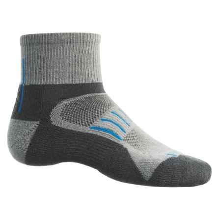 Timberland Multi-Terrain Socks - CoolMax®-Merino Wool Blend, Quarter Crew (For Men) in Grey - Closeouts