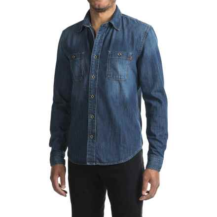 Timberland Mumford River Denim Shirt - Slim Fit, Long Sleeve (For Men) in Autumn Blue - Closeouts