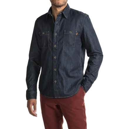 Timberland Mumford River Denim Shirt - Slim Fit, Long Sleeve (For Men) in Rinse Wash - Closeouts
