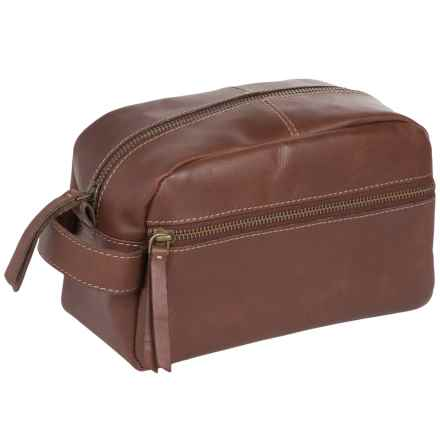 Timberland Nevada Leather Travel Kit in Cognac - Closeouts