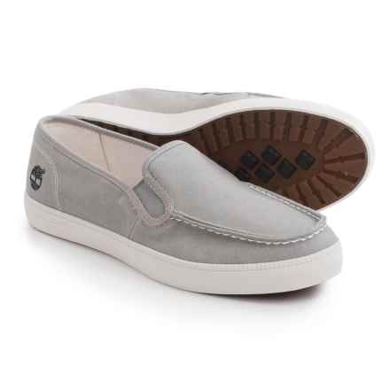 Timberland Newport Bay Canvas Moc-Toe Shoes - Slip-Ons (For Men) in Grey - Closeouts