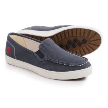 Timberland Newport Bay Canvas Moc-Toe Shoes - Slip-Ons (For Men) in Navy - Closeouts