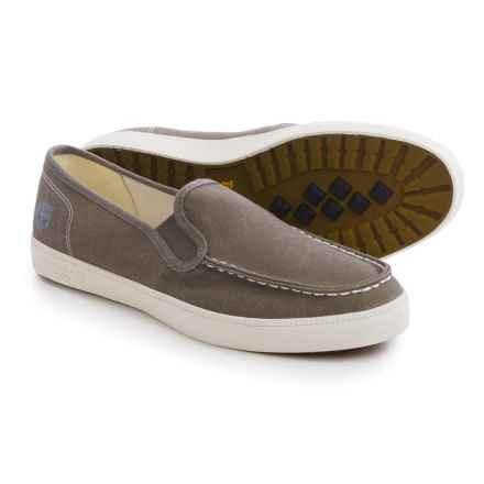 Timberland Newport Bay Canvas Moc-Toe Shoes - Slip-Ons (For Men) in Olive - Closeouts
