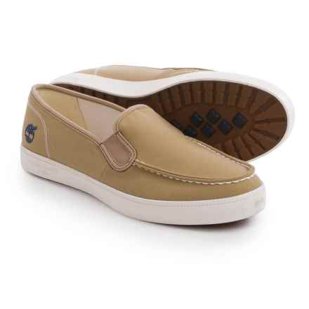 Timberland Newport Bay Canvas Moc-Toe Shoes - Slip-Ons (For Men) in Travertine - Closeouts