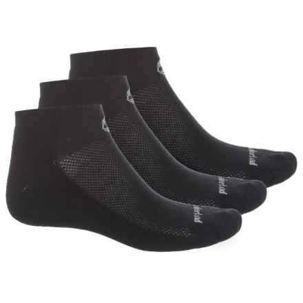 Timberland No-Show Socks - 3-Pack, Below the Ankle (For Women) in Black - Closeouts