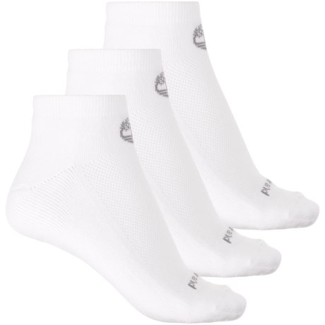 Timberland No-Show Socks - 3-Pack, Below the Ankle (For Women) in White