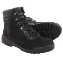 "Timberland Nubuck Field Boots - Waterproof, 6"" (For Men) in Black - Closeouts"
