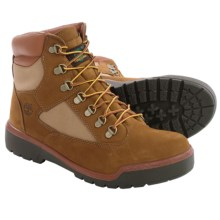"Timberland Nubuck Field Boots - Waterproof, 6"" (For Men) in Light Brown - Closeouts"