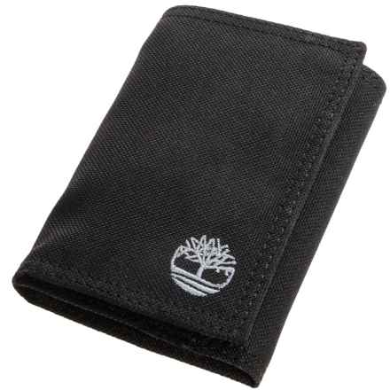 Timberland Nylon Trifold Wallet in Black - Closeouts