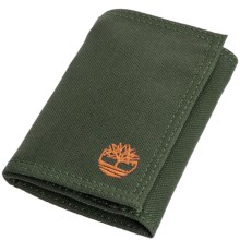 Timberland Nylon Trifold Wallet in Olive Green - Closeouts