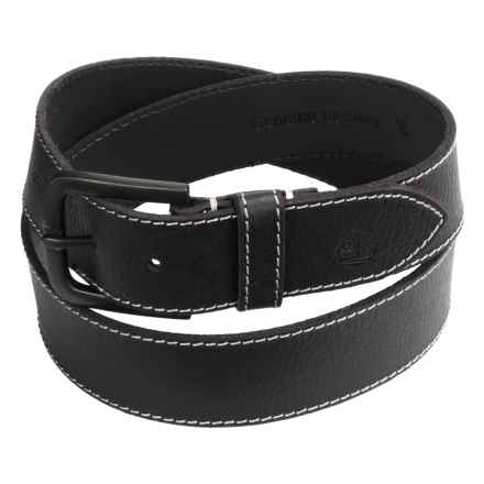 Timberland Oily Milled Leather Belt - 40mm (For Men) in Black - Closeouts