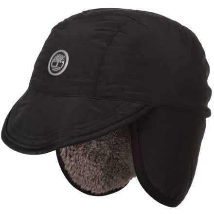 Timberland Outdoor Brim Hat - Faux-Fur Lined (For Men) in Black/Charcoal Heather Grey - Closeouts