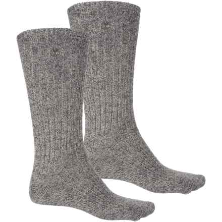 Timberland Outdoor Leisure Socks - 2-Pack, Crew (For Women) in Black - Closeouts