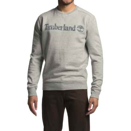 Timberland Oyster River Pullover Sweatshirt - Cotton Blend, Crew Neck, Long Sleeve (For Men) in Med Gry Heather - Closeouts