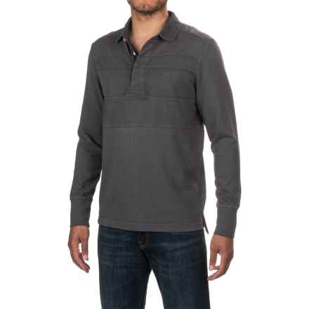 Timberland Palmer River Rugby Shirt - Cotton Jersey, Long Sleeve (For Men) in Forged Iron - Closeouts