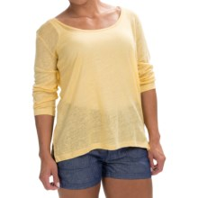 Timberland Palmer River Shirt - Linen, 3/4 Sleeve (For Women) in Dusky Citron - Closeouts