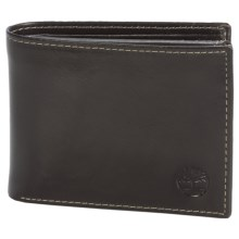 Timberland Passcase Wallet - Shiny Leather in Brown - Closeouts