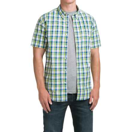 Timberland Perry Stream Madras Shirt - Short Sleeve (For Men) in Amazon - Closeouts