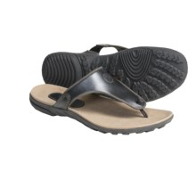 Timberland Pinkham Notch Sandals - Leather Thongs, Recycled Materials (For Women) in Black - Closeouts