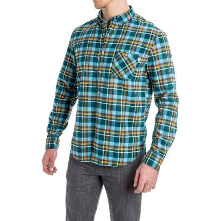 Timberland Plaid Flannel Shirt - Slim Fit, Long Sleeve (For Men) in Niagara - Closeouts
