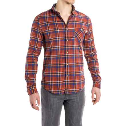 Timberland Plaid Flannel Shirt - Slim Fit, Long Sleeve (For Men) in Red Clay - Closeouts
