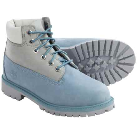 "Timberland Premium Boots - Waterproof, Insulated, 6"" (For Little Kids) in Blue - Closeouts"