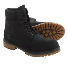 "Timberland Premium Nubuck Boots - Waterproof, Insulated, 6"" (For Men) in Black Nubuck - Closeouts"