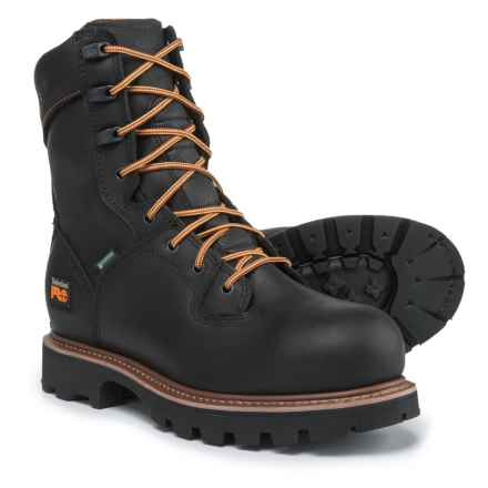 "Timberland PRO 8"" Crosscut Soft Toe Work Boots - Waterproof (For Men) in Black - Closeouts"