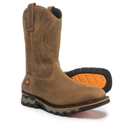 Timberland PRO AG Boss Soft Toe Work Boots - Waterproof, Square Toe (For Men) in Distressed Brown - Closeouts