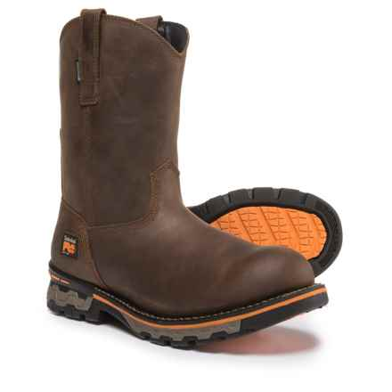 Timberland PRO AG Boss Work Boots - Waterproof, Soft Toe (For Men) in Brown - Closeouts