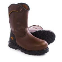 Timberland Pro Boomtown Wellington Work Boots - Leather, Safety Toe (For Men) in Brown - Closeouts