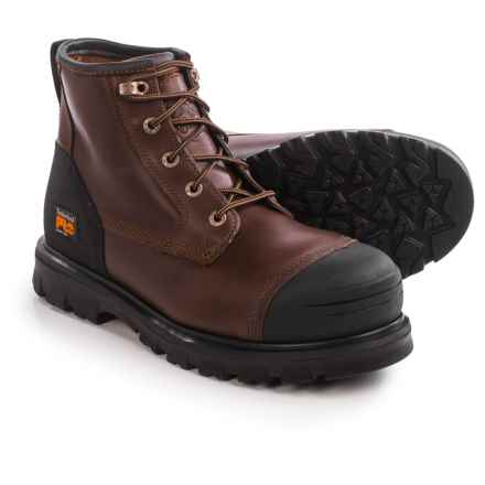 "Timberland Pro Caprock Alloy Toe Work Boots - Waterproof, Leather, 6"" (For Men) in Brown - Closeouts"