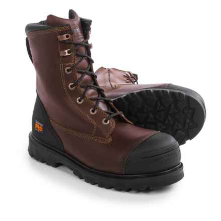 "Timberland Pro Caprock Alloy Toe Work Boots - Waterproof, Leather, 8"" (For Men) in Brown - Closeouts"