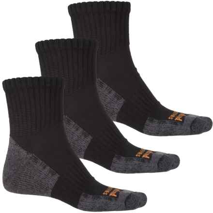 Timberland PRO® CoolTouch Low Socks - 3-Pack, Quarter Crew (For Men) in Black - Closeouts