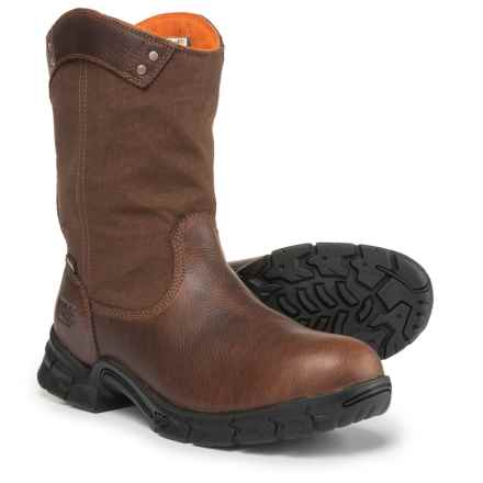 Timberland PRO Excave Wellington Work Boots - Waterproof (For Men) in Brown - Closeouts