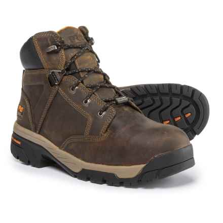 "Timberland Pro Helix 6"" Work Boots - Composite Safety Toe, Waterproof (For Men) in Brown - Closeouts"