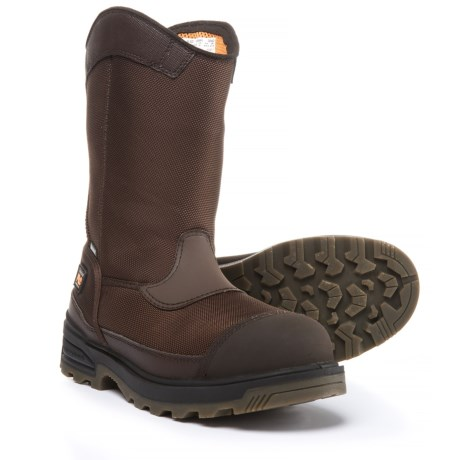 Timberland PRO Mortar Wellington Work Boots - Waterproof, Composite Safety Toe (For Men) in Brown