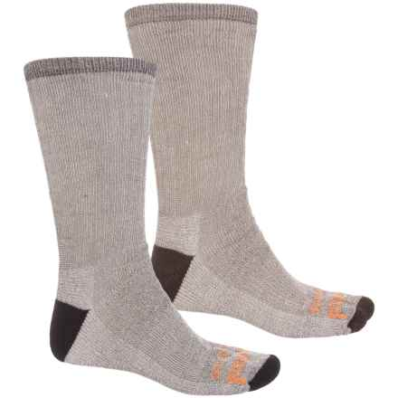 Timberland PRO® Polyester-Wool-Blend Work Socks - 2-Pack, Crew (For Men) in Black Heather/Brown Heather - Closeouts