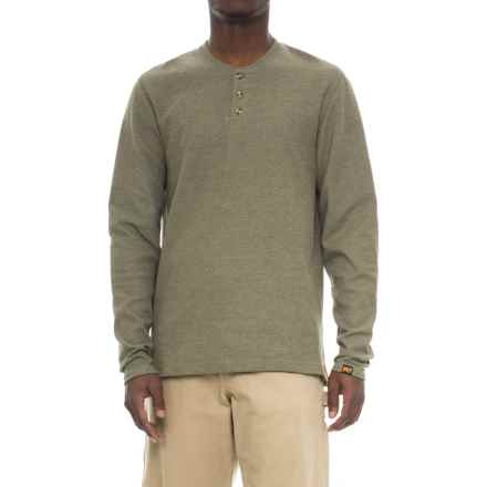 Timberland PRO PRO® Mad as Henley Shirt - Long Sleeve (For Men) in Grape Leaf Heather - Closeouts