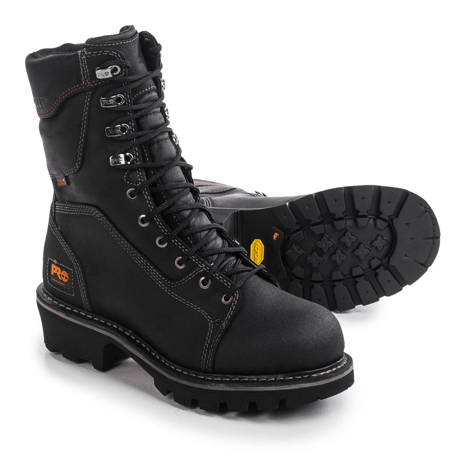 Timberland Pro Rip Saw Soft Toe Logger Work Boots For Men
