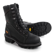 "Timberland Pro Rip Saw Soft Toe Logger Work Boots - Waterproof, 9"" (For Men) in Black - Closeouts"