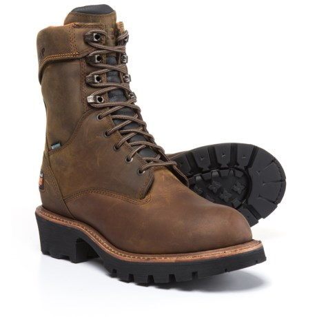 "Timberland Pro Rip Saw Soft Toe Logger Work Boots - Waterproof, 9"" (For Men) in Brown"