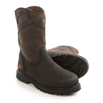 Timberland Pro Series Powerwelt Wellington Work Boots - Leather, Steel Toe (For Men) in Brown - Closeouts