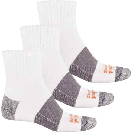 Timberland PRO® U.S. Cotton-Blend Socks - 3-Pack, Quarter Crew (For Men) in White - Closeouts