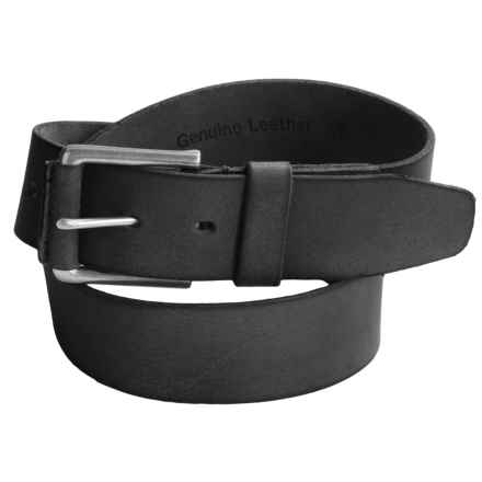 Timberland Pull Up Leather Belt (For Men) in Black - Closeouts