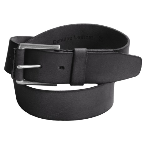 Timberland Pull Up Leather Belt (For Men) in Black