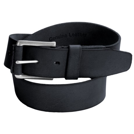 Timberland Pull Up Leather Belt (For Men) in Navy