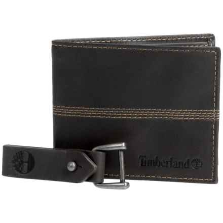 Timberland Quad Bifold Leather Wallet (For Men) in Black - Closeouts