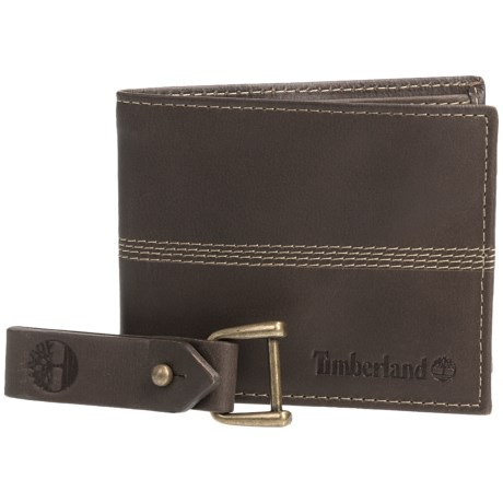 Timberland Quad Bifold Leather Wallet (For Men) in Brown